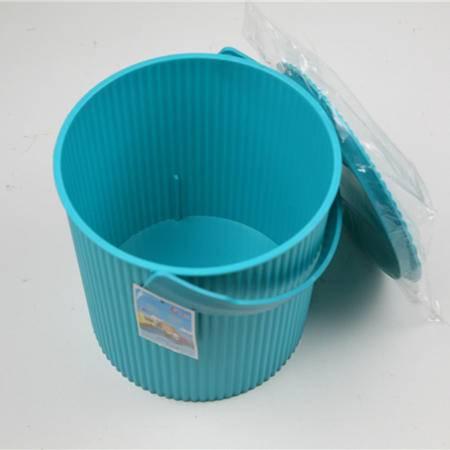 【仅限新乡地区销售】春竹多功能带盖条纹整理桶塑料玩具脏衣服收纳桶收纳凳桶家居中号多用桶8049