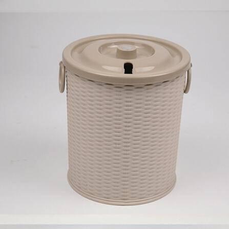 腾意茶叶桶 2012 藤编式茶水桶茶盘茶海排水桶功夫茶具塑料桶