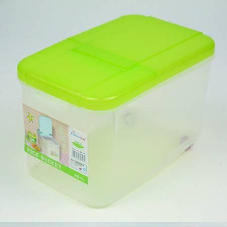 亿星米桶带滑轮0317 面箱  透明米桶 米面桶 塑料米桶 厨房储物