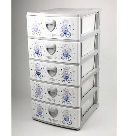 【仅限新乡地区销售】勤业柜子(五层)3065  五层抽屉柜/收纳箱/塑料整理箱/整理柜子/多层组合柜