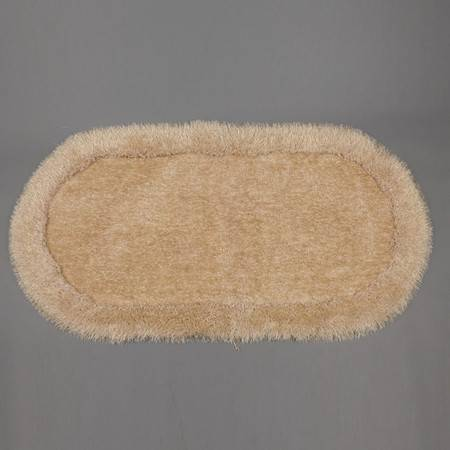 彩葵弹力绒床边毯0.7m*1.4m 客厅茶几地毯卧室床边毯沙发椭圆地毯