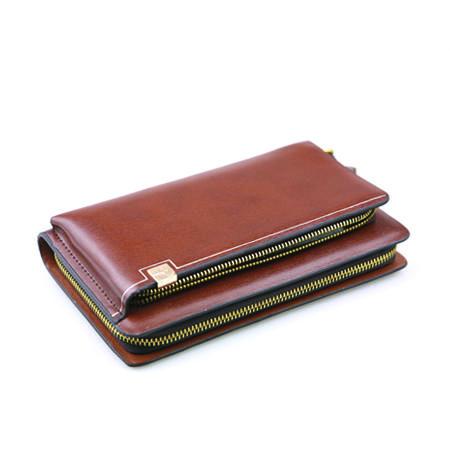 男士手包 大容量商务手拿包手抓包夹包 棕色蓝色可选