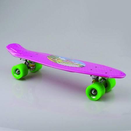 小恐龙鱼板 极限运动代步刷街四轮滑板小鱼板香蕉板单翘板