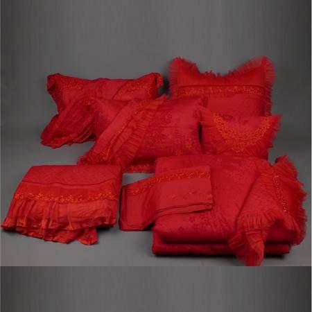 【仅限新乡地区销售】圣路易丝良辰美景红-11多件套【220*240】
