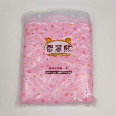 智慧熊 隔尿垫【70*90】宝宝婴儿尿垫小象字母印花隔尿垫(粉色)