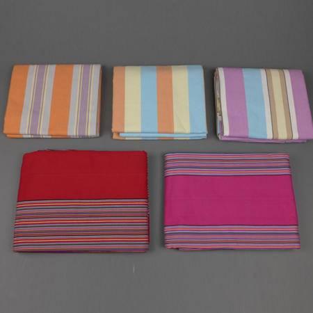 锦鲤C2035粗布三件套【250*250】加厚条纹全棉(枕套+床单)