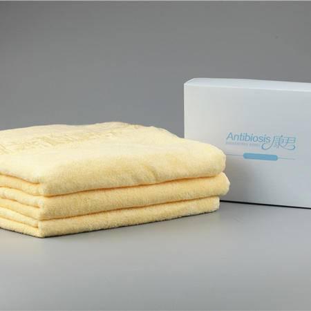 康君抗菌浴巾 黄色 70*140(单条)