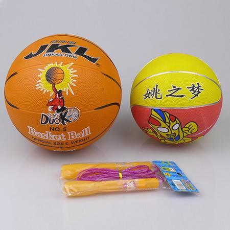 少儿益智强体A组合(金凯龙5号篮球+健力儿童跳绳+姚之梦3号篮球)