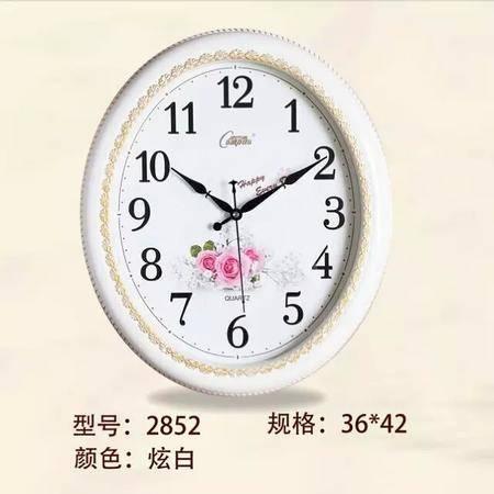 【仅限新乡地区销售】康巴丝(COMPAS)2852挂钟 时尚创意静音简约时钟欧式复古石英钟