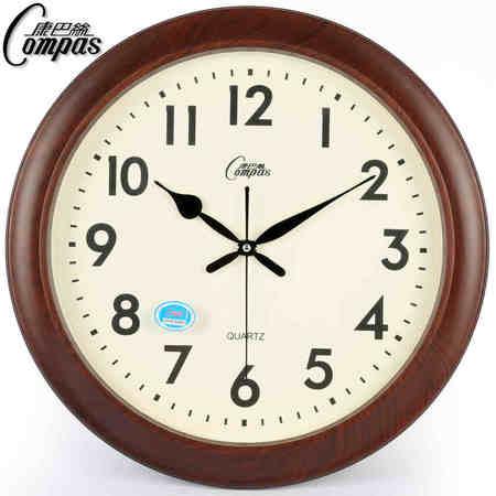【仅限新乡地区销售】康巴丝(Compas)2822欧式钟表客厅创意办公静音挂钟石英钟挂表 2822