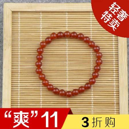 【爽11 3折购】红玛瑙手串 手链 佛珠 挂件 摆件 把件 玛瑙