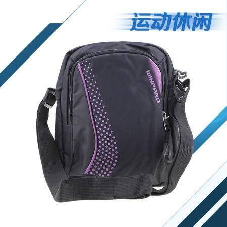 WINPARD/威豹C6503斜挎包 黑色拼粉紫 女单肩包小挎包休闲小包斜跨女包男女包包竖款