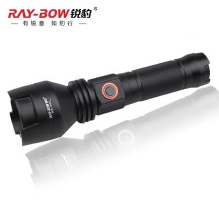 锐豹 战术型 RB-390多功能强光手电筒 远射可充电 无极调光LED圆形灯泡 军家用户外骑行防水打