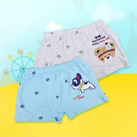 小蚂蚁男童平角卡通内裤BX14529(一盒两条)纯棉裤衩平角裤吸汗透气健康舒适