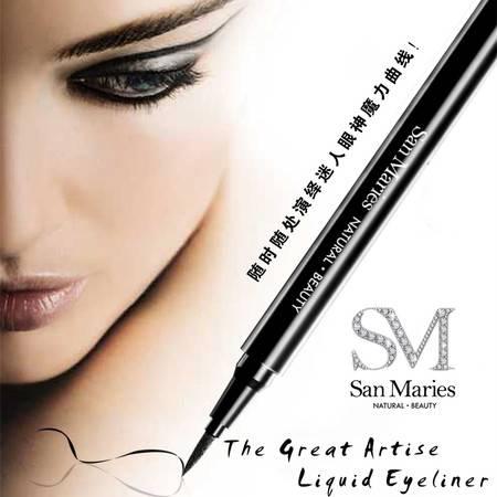 San Maries思蔓瑞 大艺术家眼线液笔 0.6ml 极流畅 超酷黑 不晕染 超持久