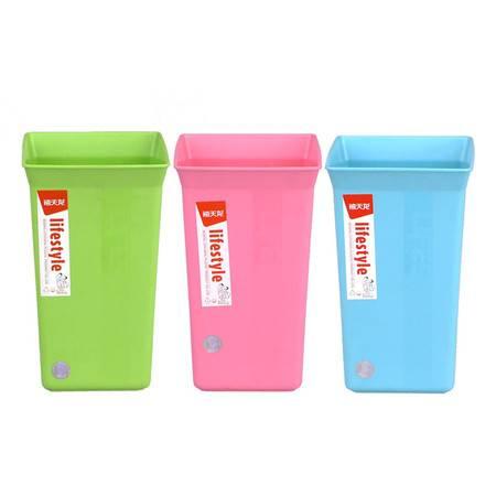 【9.9元包邮】禧天龙T-3055桌面笔筒杂物收纳盒垃圾桶 颜色随机