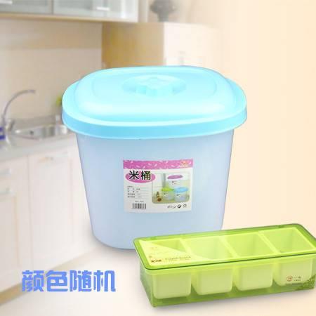 三环家居 家用无毒无味环保材质米桶 8007+一鸣 四格厨房用调味盒 YM-008