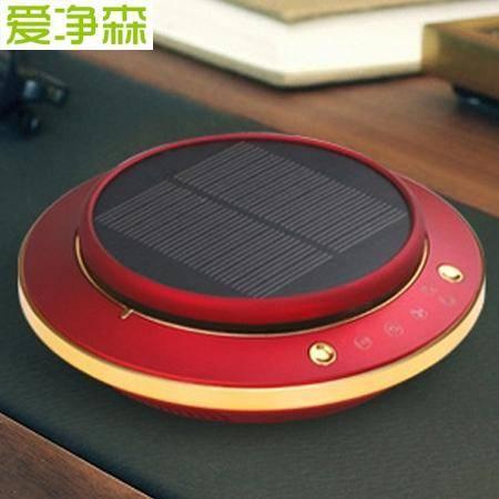 爱净森车载智能空气净化器AS-3五重净化太阳能高效一键启动香熏机