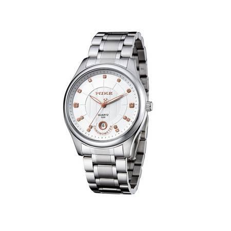 米可男士手表 全钢带日历防水休闲商务 男士腕表