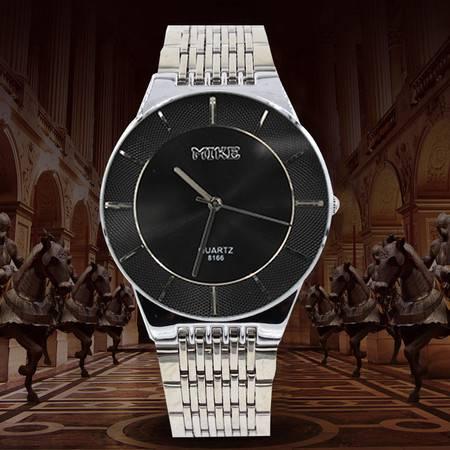 米可 情侣防水对表 韩版男士女士腕表 学生休闲手表 简约创新时装表 8166 两块装