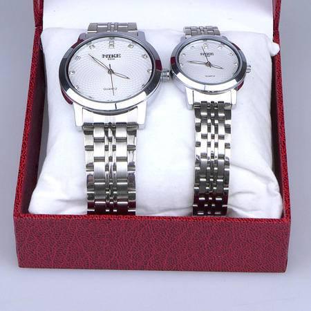 米可 情侣防水对表 韩版男士女士腕表 学生休闲手表 简约创新时装表 两块装