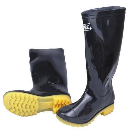 永汇 高腰胶鞋 雨鞋防水防滑耐穿 YH918 黑色