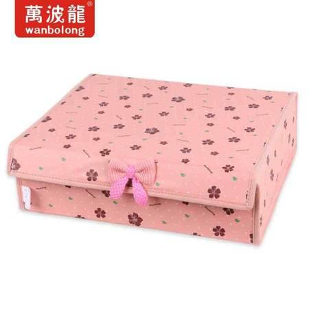 万波龙 5236花语硬盖收纳盒(16格) 袜子专用收纳盒
