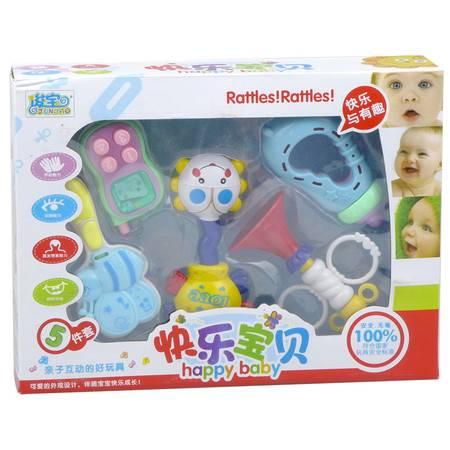 俊宝 快乐宝贝 亲子互动玩具5件套 安全无毒 7602 适合6个月以上 婴幼儿益智新生儿玩具