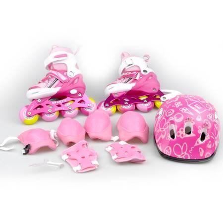 【仅限新乡地区销售】曼迪斯 直排PU轮旱冰鞋组合装 含安全帽、护腕护肘护膝 MDS-118