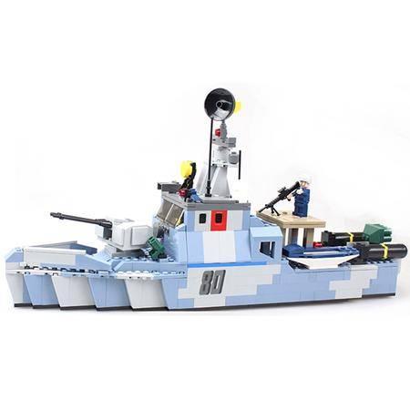 【仅限新乡地区销售】古迪积木8023海军系列拼插积木 520块/套(含3个公仔) 近海警戒舰