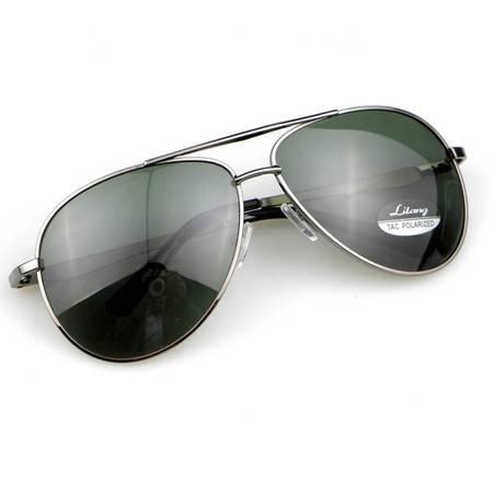 利狼 偏光太阳镜 8505灰 送眼镜盒 收纳袋 眼镜布 户外男士偏光遮阳镜 户外运动开车钓鱼防紫外线