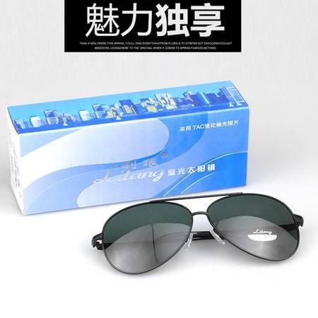 利狼 偏光太阳镜 8522黑 送眼镜盒 收纳袋 眼镜布 户外男士偏光遮阳镜 户外运动开车钓鱼防紫外线