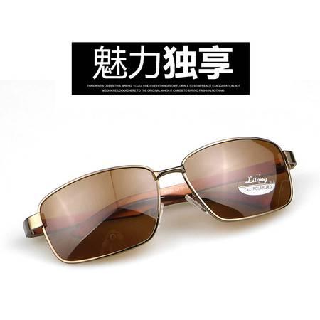 利狼 偏光太阳镜 8534茶 送眼镜盒 收纳袋 眼镜布 户外男士偏光遮阳镜 户外运动开车钓鱼防紫外线