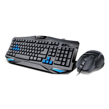 冰兽魅影狂徒专业级游戏键鼠套装V7 有线 鼠标+键盘套装 网吧办公游戏套件 键盘1000万次