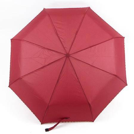 盛世雨纯色荷叶包边防风自动伞 颜色随机 遮阳伞铅笔伞晴雨伞洋伞 防雨防紫外线 轻盈坚固好收纳