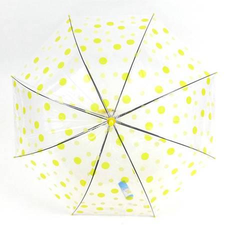 洪俊8003波点图案透明长柄伞 颜色随机 直柄伞遮阳伞晴雨伞洋伞 防雨防紫外线 轻盈坚固