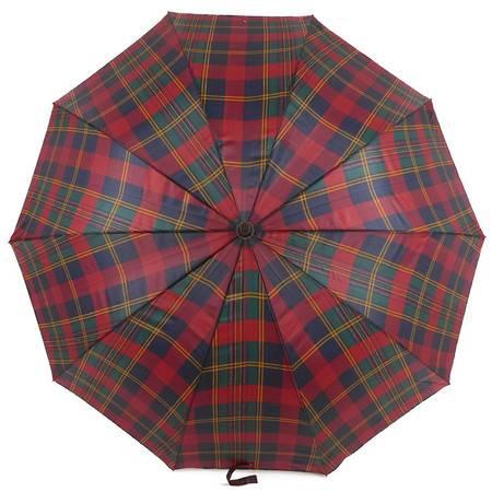 洪俊6910花格拉簧长柄伞 直柄伞遮阳伞晴雨伞洋伞 防雨防紫外线 轻盈坚固