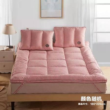 【仅限新乡地区销售】宜家居立体羽丝绒软床垫 180*220cm 颜色随机 加厚被褥床褥 榻榻米床垫