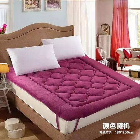 【仅限新乡地区销售】宜家居法兰绒床垫 180*200cm 颜色随机 榻榻米床垫床褥 卧室寝室被褥 舒