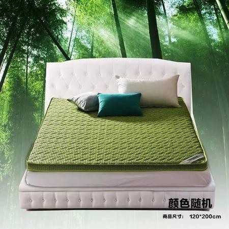 【仅限新乡地区销售】宜家居竹炭床垫 120*200cm 颜色随机 透气竹炭榻榻米加厚床褥被褥 抑菌