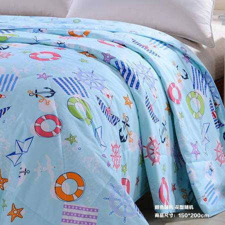 【仅限新乡地区销售】宜家居夏被 150*200cm 颜色款式随机 薄被子空调被夏凉被 舒适透气可水洗