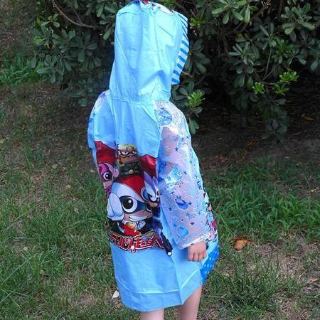 盛世雨N6儿童磨砂透明雨衣 挡风雨不挡视线雨披 可爱时尚 户外步行骑车雨衣