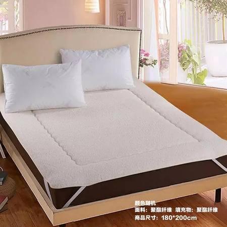 【仅限新乡地区销售】宜家居羊羔绒床垫 180*200cm 颜色随机 加厚被褥床褥 榻榻米床垫 保暖