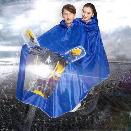 盛世雨牛津纺大帽檐双人款雨披S065  摩托车电动车挡风雨不挡视线雨衣 加大加厚