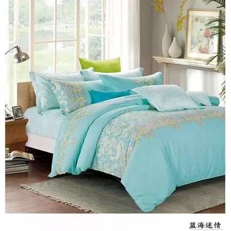 【仅限新乡地区销售】圣路易丝柔丝缦四件套200*230 双人床单被罩枕套 全棉床上用品 柔软舒适透气