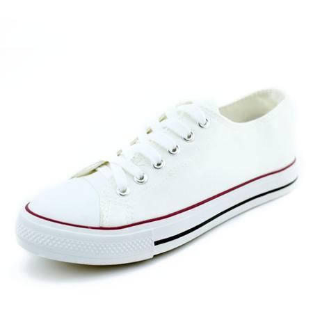 2016年最新款男装帆布鞋 基本款黑白韩版鞋 学生情侣纯色布鞋