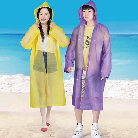 盛世雨LIXIANG A001一次性雨衣3件一组 颜色随机 户外步行骑行雨衣 防风雨可爱时尚 1*3