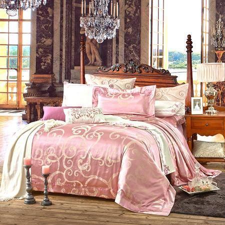 【仅限新乡地区销售】圣路易丝提绣中国情调四件套220*240 棉质双人床单被罩枕套 舒适床上用品 透