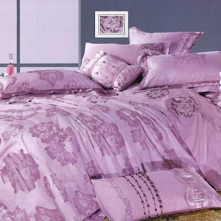 【仅限新乡地区销售】燕澜之家 亮丝提花四件套 高品质提花床上用品AB版精梳棉单双人四件套