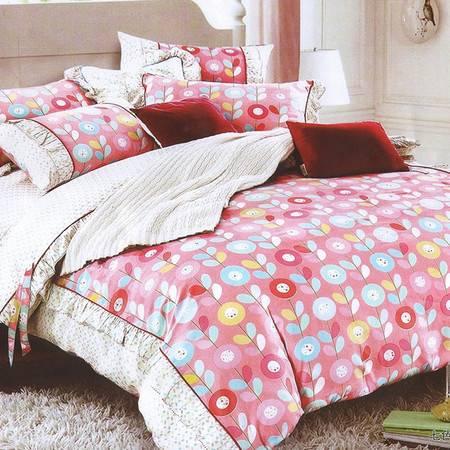 宝吉星家纺 4D高织高密学生宿舍单人床单三件套1.2米床1.5m全棉斜纹寝室被套被单套件